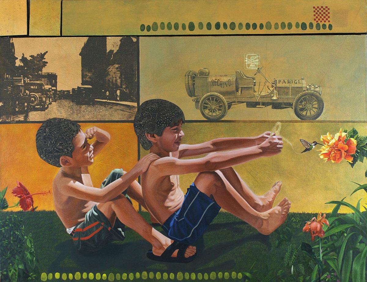 La Gran carrera (políptico) - Alex Cuchilla - El Salvador