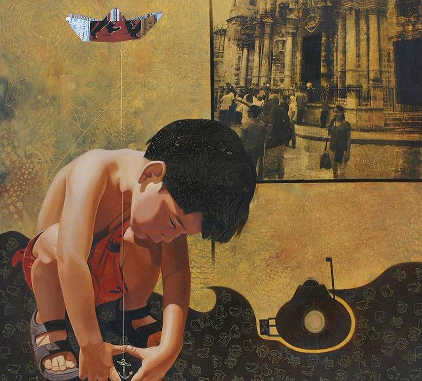 La isla (díptico) - Alex Cuchilla - El Salvador