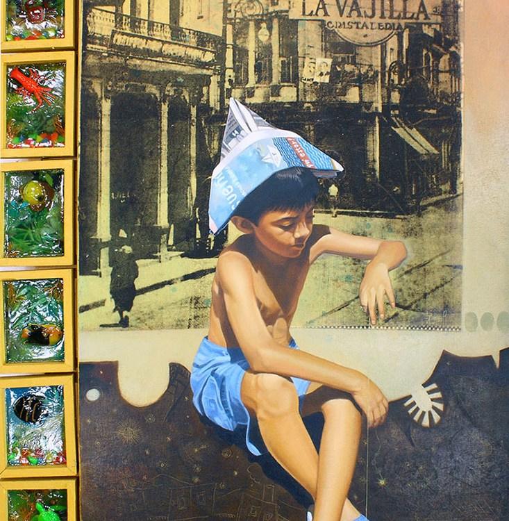 Navegando en el ancho mar de tus sueños - serie ciudades sumergidas - Alex Cuchilla - El Salvador