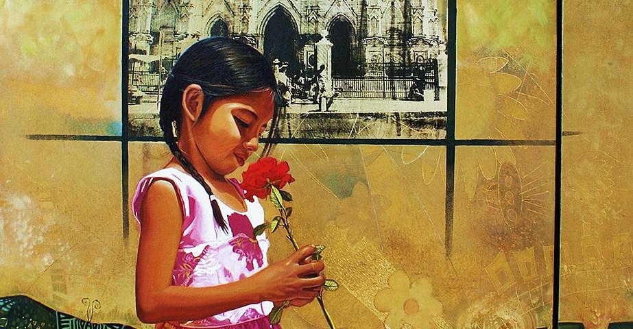 Rosa - serie ciudades sumergidas - Alex Cuchilla - El Salvador
