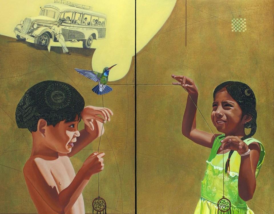 Viaje hacia el país de la niñez (díptico) - Alex Cuchilla - El Salvador