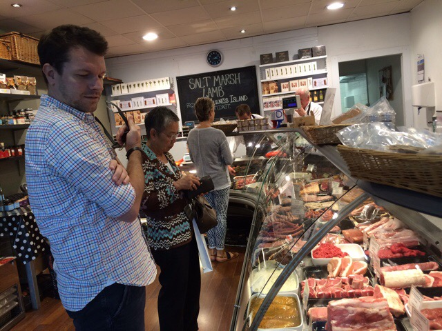 User 1 buying meat at the butchers