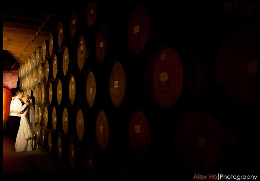 wine cellar V. Sattui Winery Wedding in Saint Helena