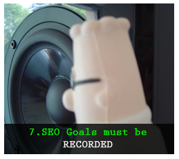 Recorded SEO Goals