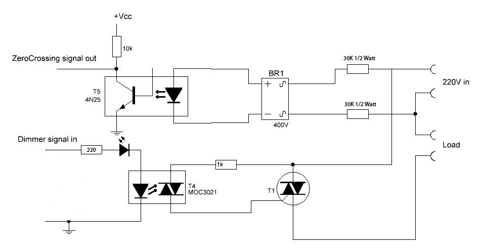 Dimming v ac with arduino electronics