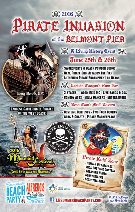 Pirate Invasion of Belmont Pier & Mermaid Festival June 25 & 26, 2016