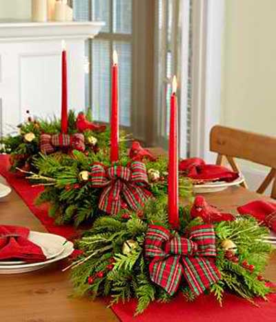 25 ideas para centros de mesa de Navidad