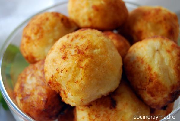 Croquetas de patata y bacalao