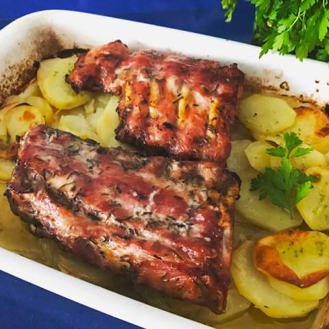 costillas asadas al romero - cocina a buenas horas