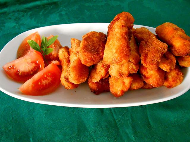 Fingers de pollo con salsa barbacoa