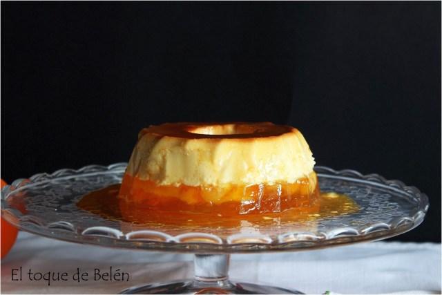 flan de queso y gelatina d naranja - el toque de belen