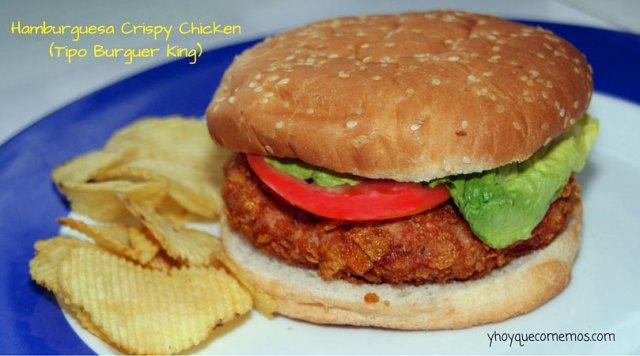 hamburguesa crispy chicken - y hoy que comemos