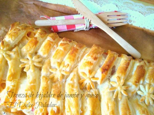 trenza hojaldre jamón y queso - el dulce paladar