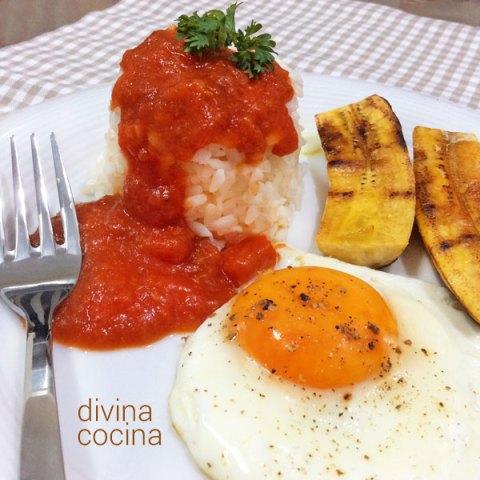 arroz a la cubana - divina cocina