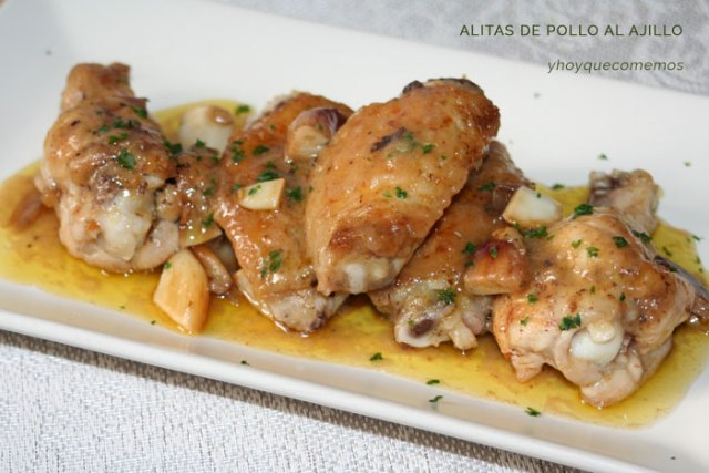 alitas de pollo al ajillo - y hoy que comemos