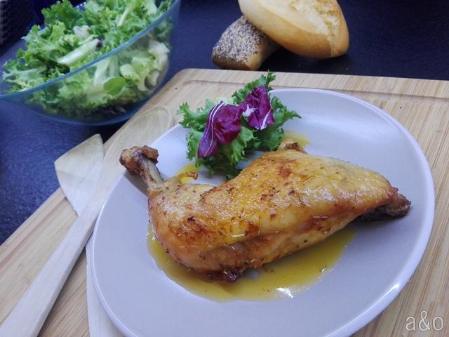 Muslos de pollo macerados al horno