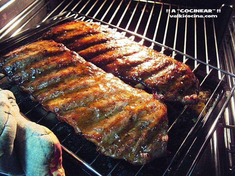 Costillas de cerdo al horno con miel