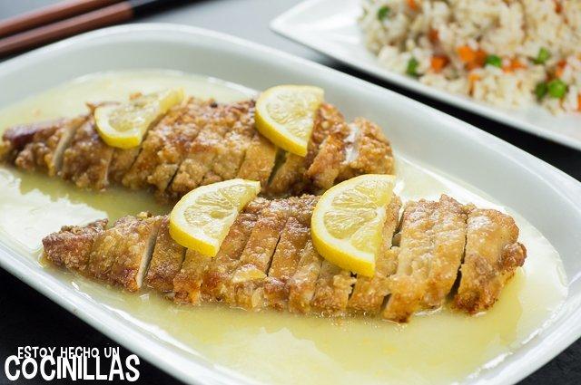 Pollo al limón al estilo chino