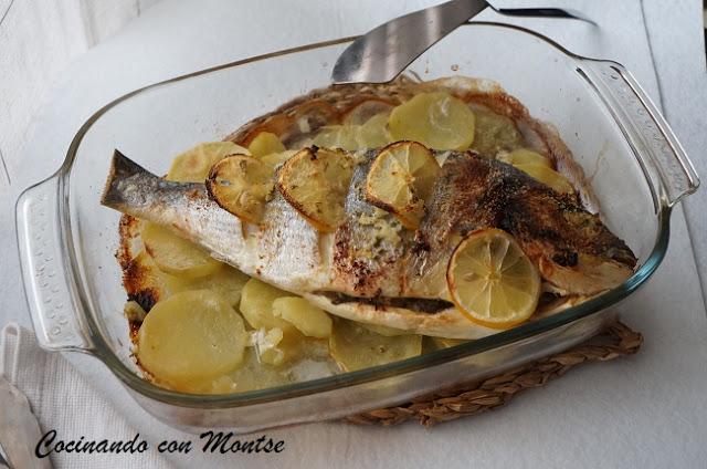 dorada-al-horno-con-patatas