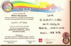2° DAN Ryukyu Kempo - Kyusho Jitsu