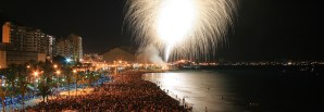 Concurso de Fuegos artificiales @ Playa El Postiguet | Alicante | Comunidad Valenciana | España
