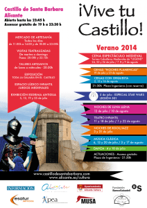 CARTEL VIVE TU CASTILLO 2014-03
