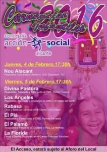 Carnaval infantil 2016 en los barrios de Alicante. @ diferentes ubicaciones en Alicante | Alicante | Comunidad Valenciana | España
