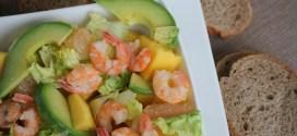 salade de crevettes à la mangue et pamplemousse