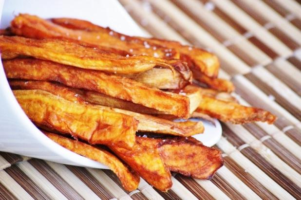 Frites de patates douces au four alice p gie - Frite de patate douce au four ...