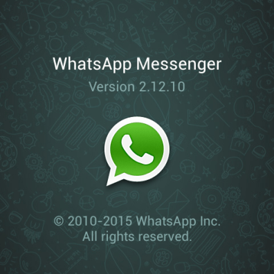 WhatsAPP Version installed and have audio call enabled