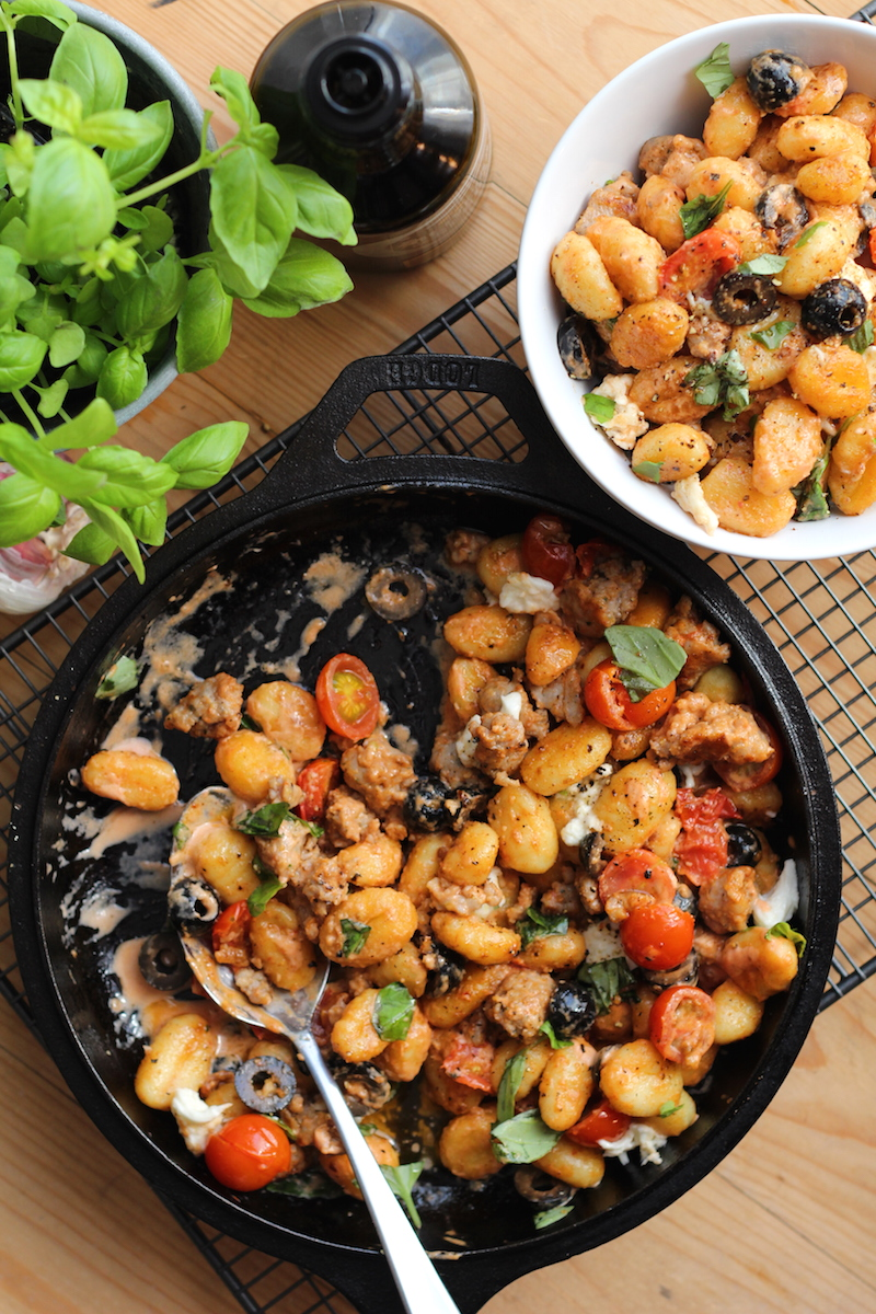 One pot gnocchi with sausage