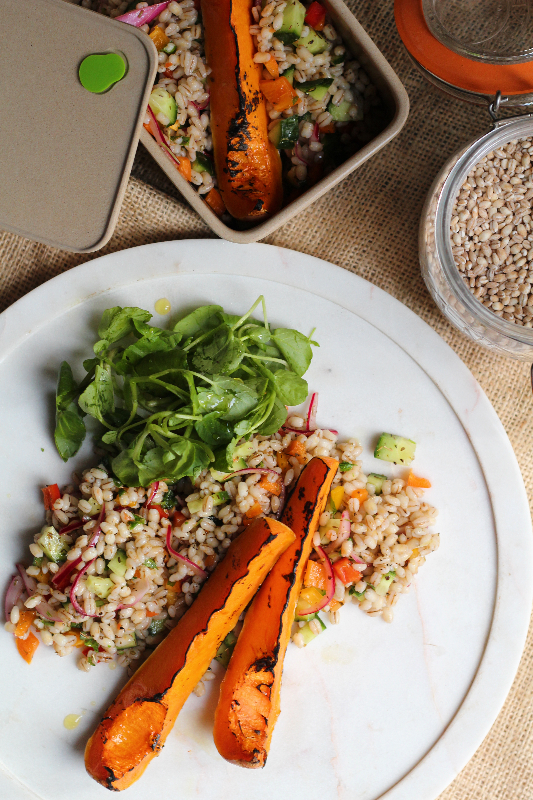 This pearl barley salad is a fresh addition to any lunch box. Make it in batches for the week ahead