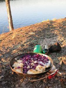 Walleye stir fry cooking
