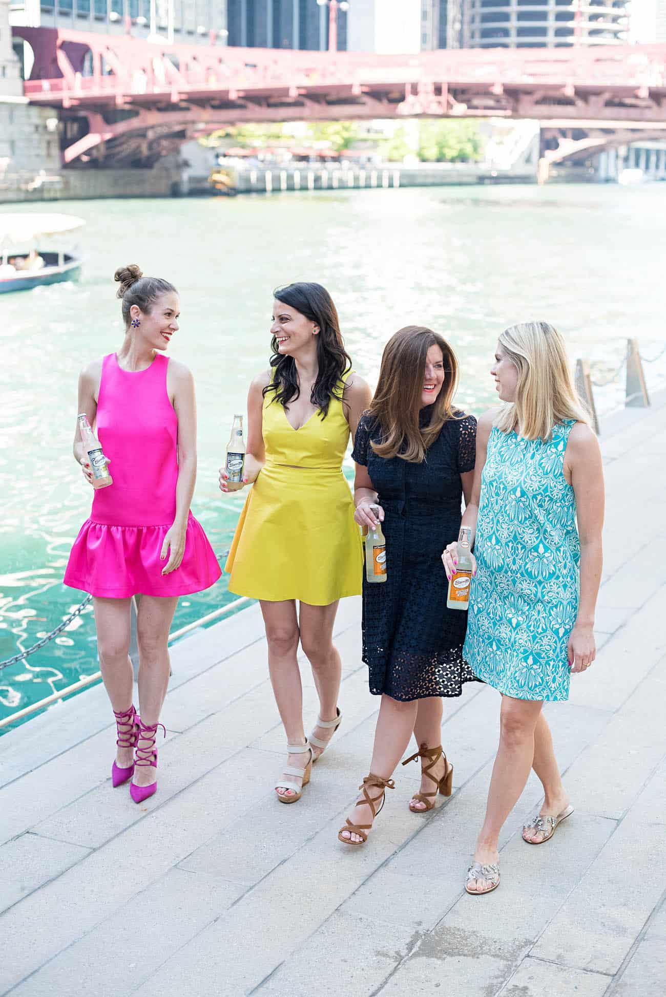Barritt's Ginger Beer, Chicago Fashion Blogger, Ginger Beer, A Lily Love Affair, Chicago River Walk