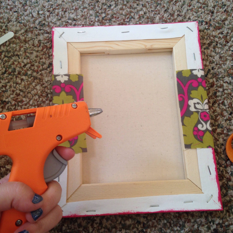 Fabric Wall Frames : Easy fabric cross wall art tutorial a little moore
