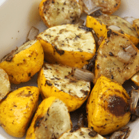 Sweet and Tangy Roasted Patty Pan Squash