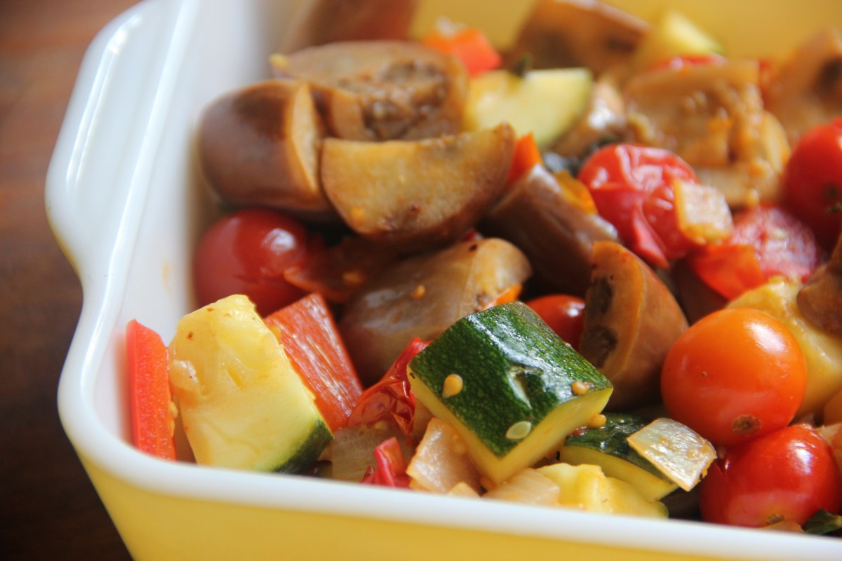 """Mini"" Ratatouille (with cherry tomatoes and fairytale eggplant)"