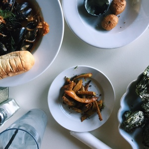 Roasted Carrots and Steamed Mussels