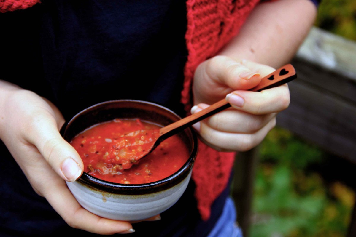 Tomato and Toasted Quinoa Soup