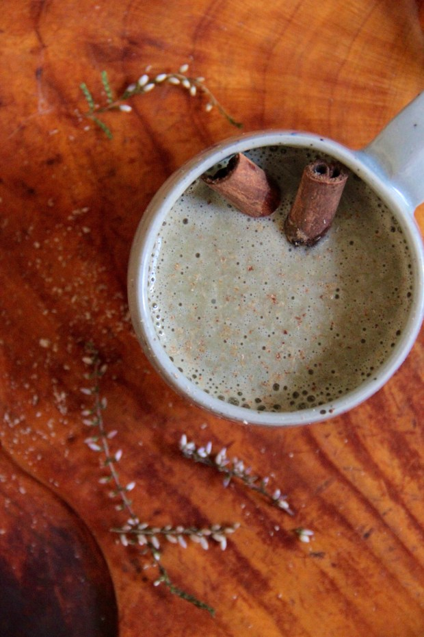 Warm Spiced Pear Protein Smoothie