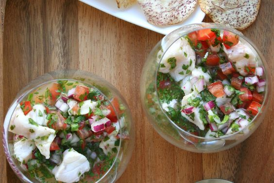 Snapper Ceviche with Chilis and Herbs