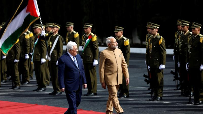 Modi visits Ramallah, backs independent Palestine state