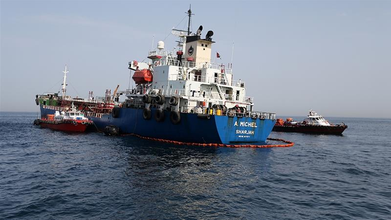 'Sabotage' attacks were carried out last week on oil-carrying vessels but many questions remain unanswered [Reuters]