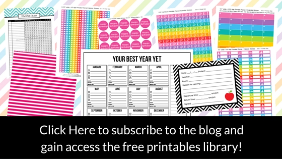 subscribe to allaboutthehouse blog to recieve access to free printables library