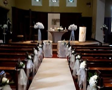 Ceremony Decor at Church of St.Senan Enniscorthy