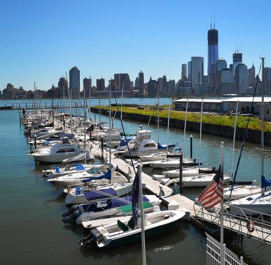 View of Manhattan from the Newport Yacht Club & Marina
