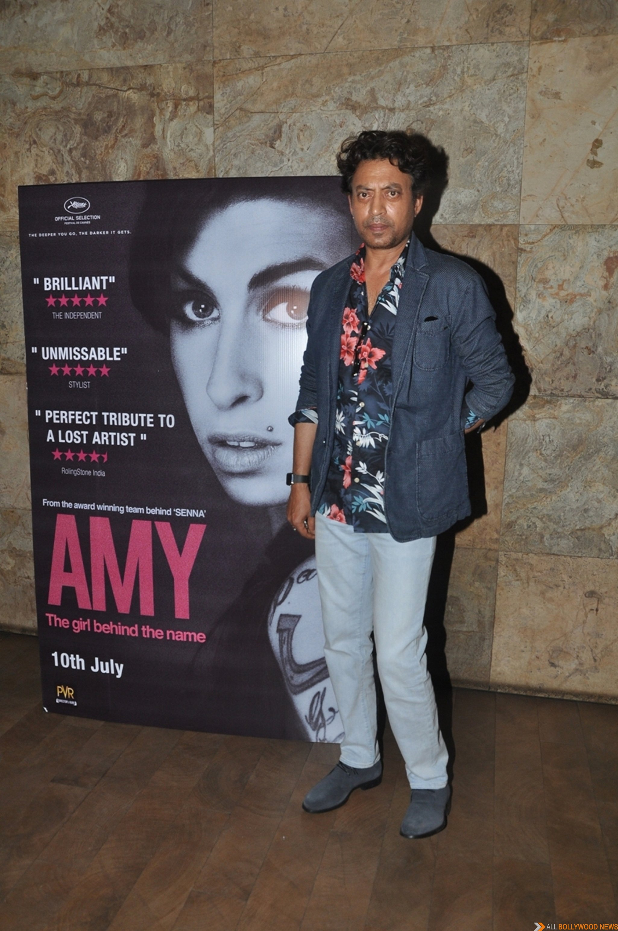 Irrfan Khan hosts Amy Premiere in India