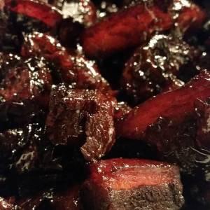 The glistening jewels of dongpo pork.