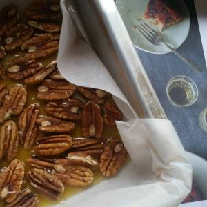 The caramel pecan base