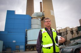 Todd Kollross is the project manager overseeing the installation of pollution controls at Homer City. Photo: Reid Frazier